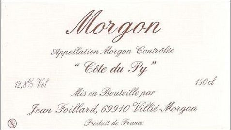 Foillard Morgon Label