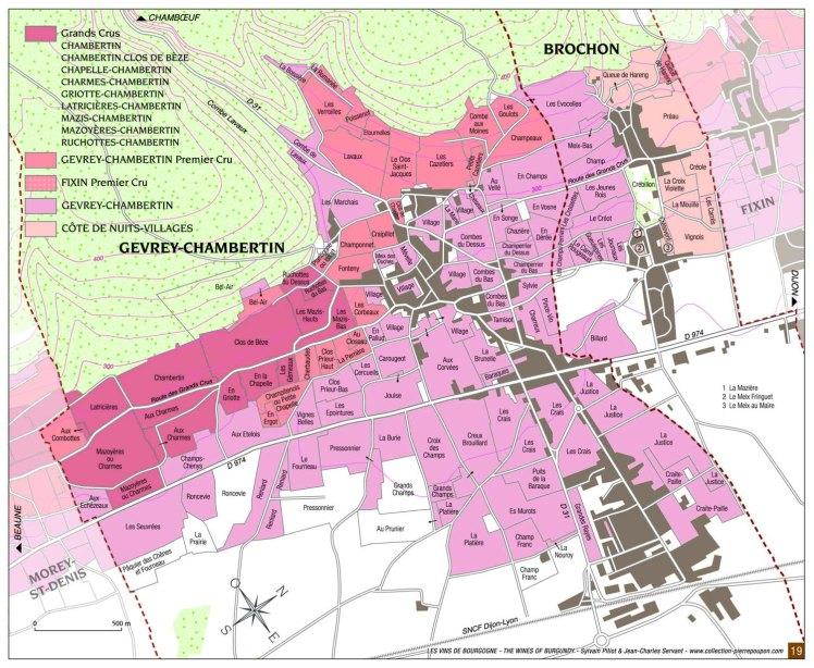Gevrey vineyards Pitiot