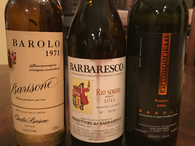 Nebbiolo tasting bottles