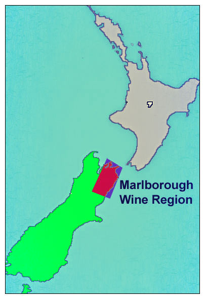 NZ Map of Marlborough