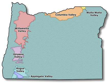 Oregon wine regions