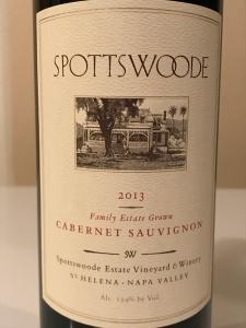 Spottswoode 2013 label