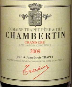 Trapet Chambertin label