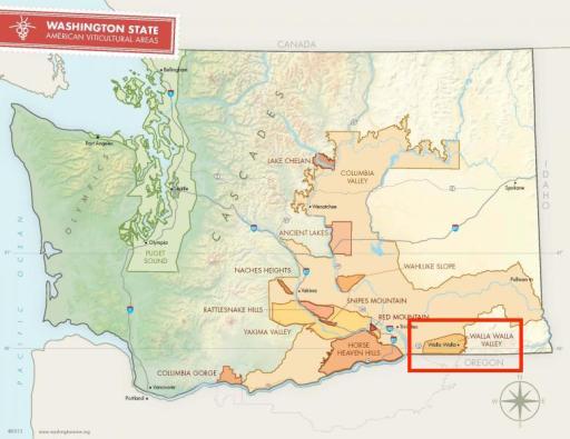 Washington state AVAs