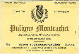 Bouzereau-Gruere Puligny label