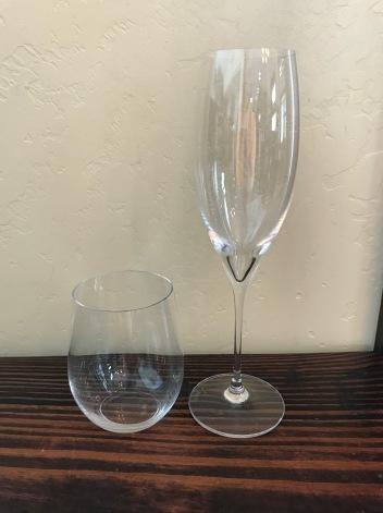 White:Sparkling glasses